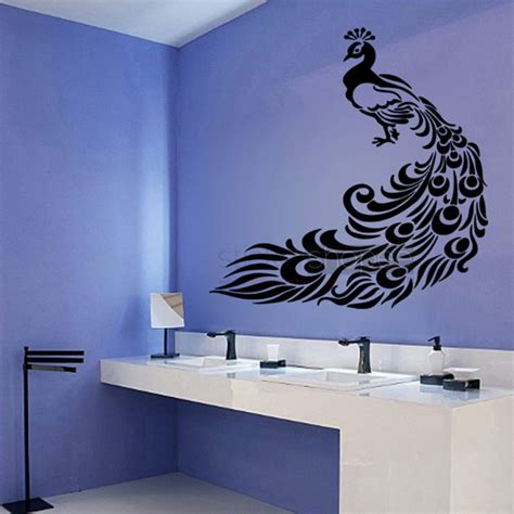 peacock wall sticker floral peacock wall decals