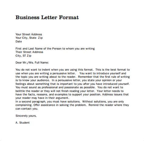 sample business letters format to download pbensjih the