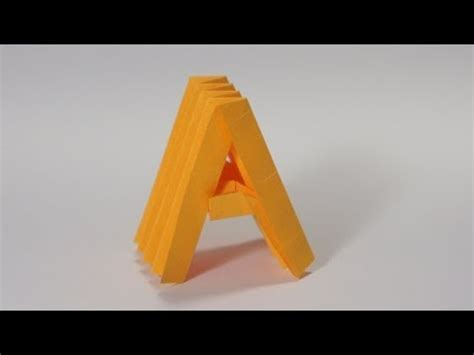 origami letter a origami letter a the secrets of origami