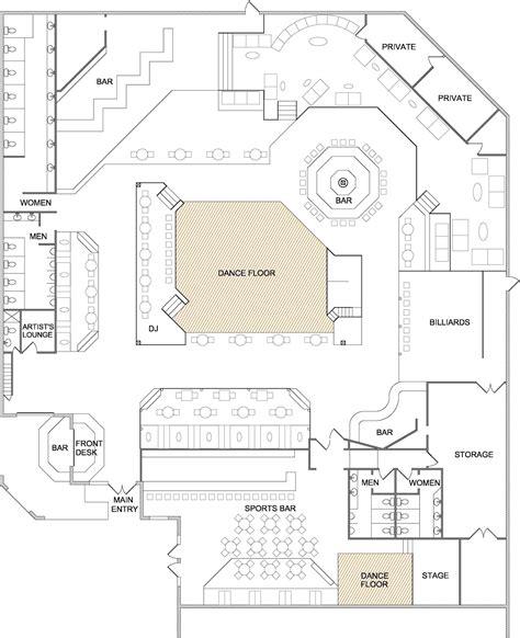 bar floor plans image gallery nightclub layout