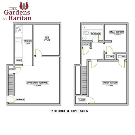 One Bedroom Duplex availability amp floorplans the gardens at raritan