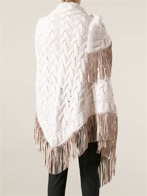 cable knit shawl antonia zander cable knit shawl in beige neutrals