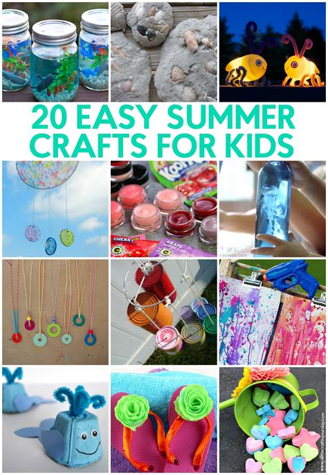 crafts for summer 20 easy summer crafts for a craft in your