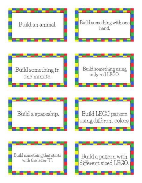 Free Printable Lego Challenge Cards Free Homeschool Deals