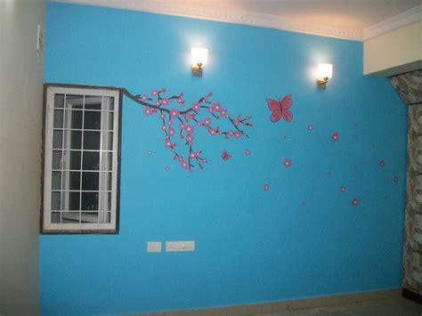 Butterfly Wall Murals kids decor wall paintings in hyderabad kidspaintingblog