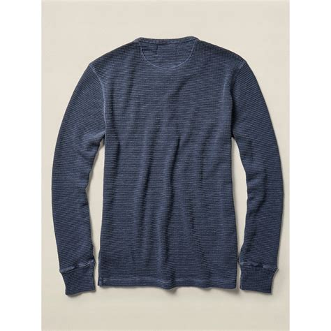 waffle knit henley rrl waffle knit cotton henley in blue for lyst