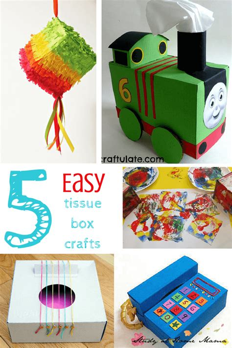 kid craft box 20 tissue box play ideas sugar spice and glitter