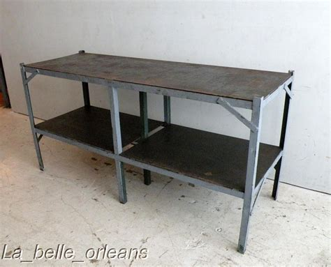 metal table for kitchen vintage industrial steel work table kitchen l k for