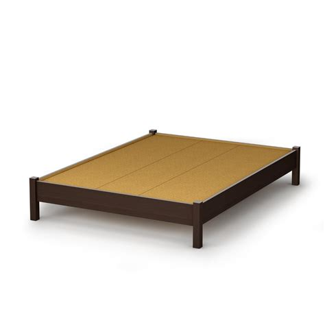 fullsize bed frame size contemporary platform bed in chocolate finish