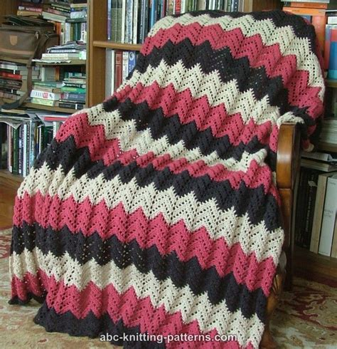 ripple afghan knit pattern abc knitting patterns lace ripple afghan