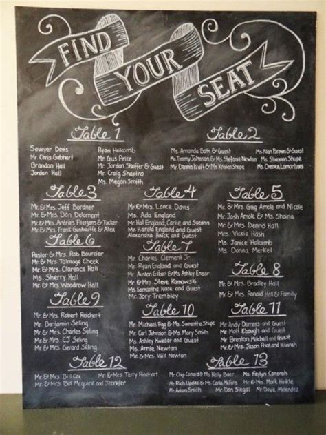 chalkboard paint signs 25 best ideas about chalkboard seating charts on
