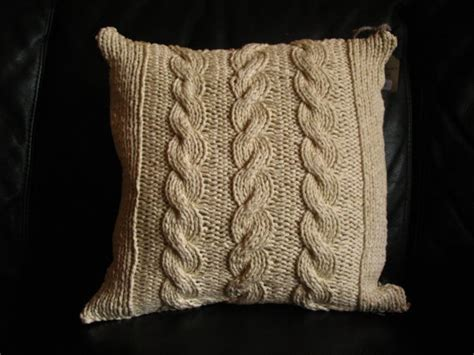 cable knit throw pillows cable knit reversible throw pillow