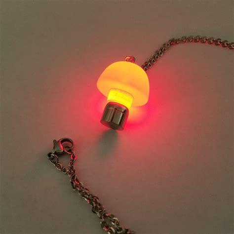 led light necklace led light up pendant necklace glow