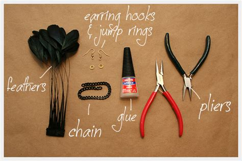how to make feather jewelry diy feather earrings