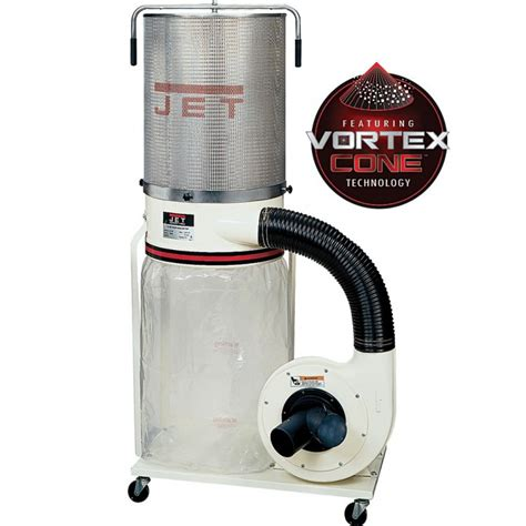 dust collectors for woodworking jet vortex dust collector 1 5hp w canister filter dc