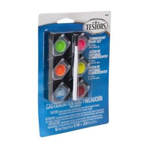 neon paint colors home depot testors 0 10 oz 6 color acrylic paint pod set fluorescent
