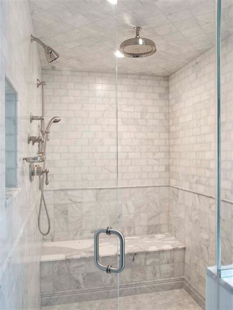 Walk In Shower Kits With Seat by Calcutta Gold Marble Transitional Bathroom Papyrus