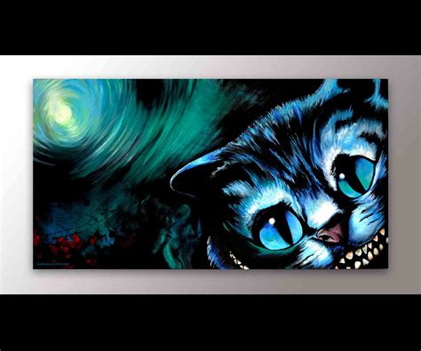 cheshire cats painting cheshire cat in decor signed print