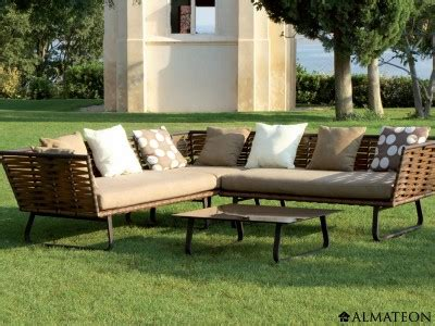 salon de jardin horizon en aluminium et r 233 sine comprenant 2 canap 233 s 1 module d angle 1 table