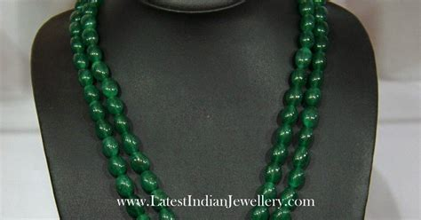 emerald mala emerald fancy set