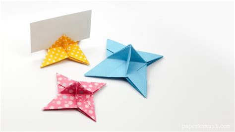 origami place card origami place card holder paper kawaii