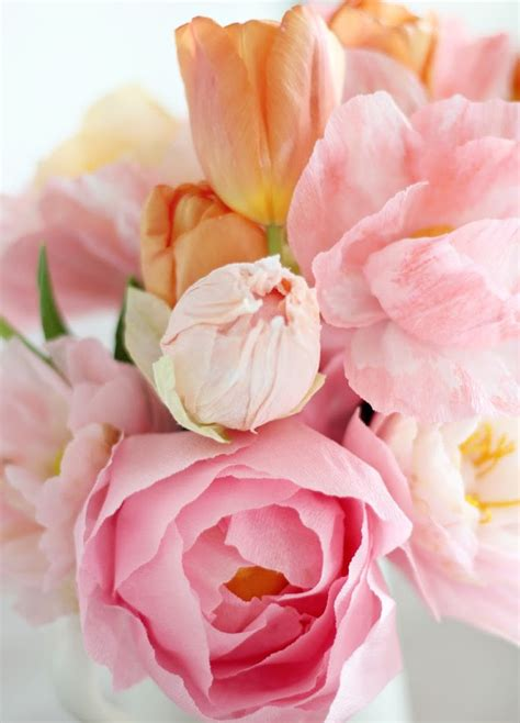 peony rubber st stunning crepe paper peonies allfreepapercrafts