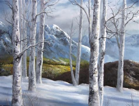 bob ross painting birch trees paint with kevin winter birch forest