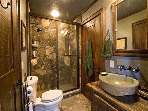 Rustic Themed Bathroom by Luxury Cabin Bathroom Ideas Rustic Cabin Bathrooms Bath