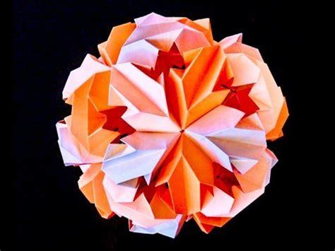 origami chrysanthemum how to make leroy s origami chrysanthemum icosahedron