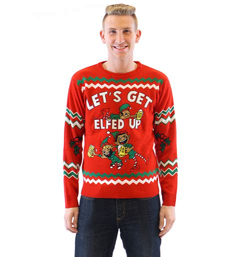 what is an sweater let s get elfed up drunken elves sweater