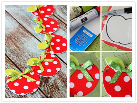 step by step crafts for diy fabric apple garland craft tutorial diy tag
