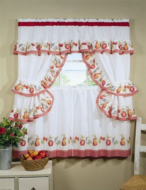 design kitchen curtains different curtain design patterns home designing