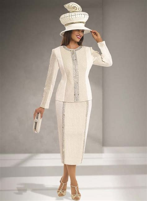 Womens Knit Church Suit By Donna Vinci 13166 Fall 2016