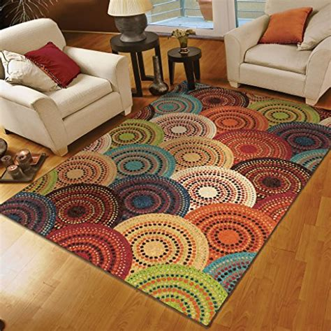 7 x 8 area rugs orian rugs circles gomaz multi area rug 7 8 x 10 10