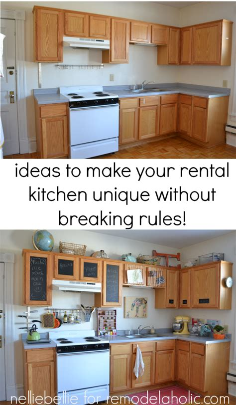 rental kitchen ideas remodelaholic how to bring personality to your rental