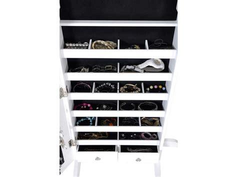 miroir coffre 224 bijoux h 145 cm coloris blanc vente de miroir sur pied et psych 233