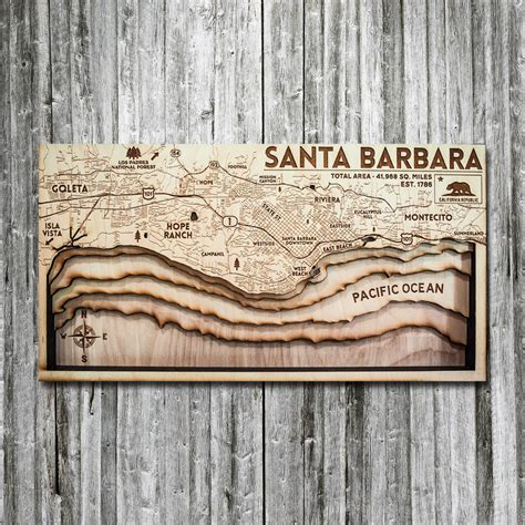 santa barbara woodworking santa barbara ca 3d wood map on tahoe time