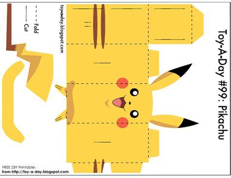 how to make cards for free printable diy printable paper box pocket pikachu pok 233 mon