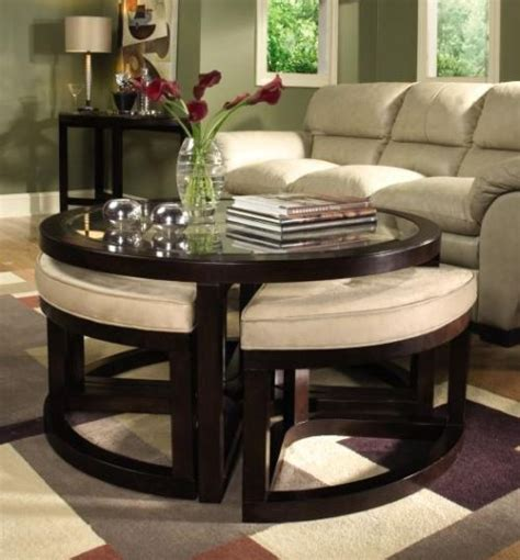 coffee table with four ottomans ottoman table for small spaces