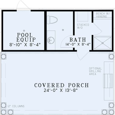 small pool house floor plans poolhouse plans 1495 poolhouse plan with bathroom