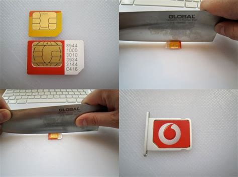 make a sim card make your own microsim with a cleaver