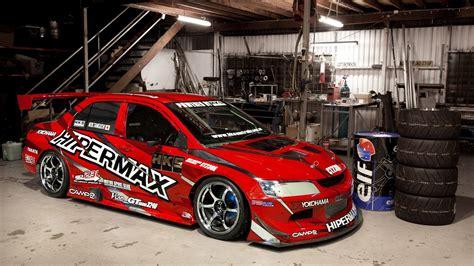Car Evolution Wallpaper by Mitsubishi Lancer Evolution In Garage Hd Wallpaper 1080p