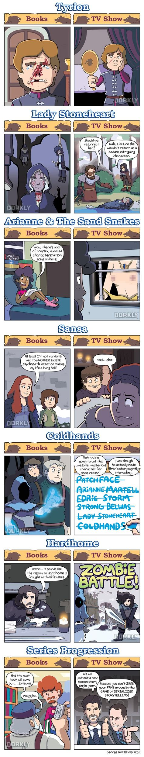 show me a picture book of thrones books vs show dorkly post