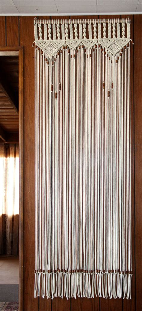 bead curtains for doors bead fringed door curtain macrame for a door with tie backs