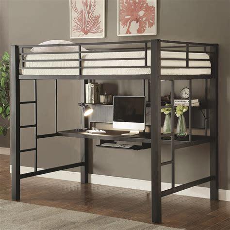coaster loft bed coaster bunks workstation loft bed value city