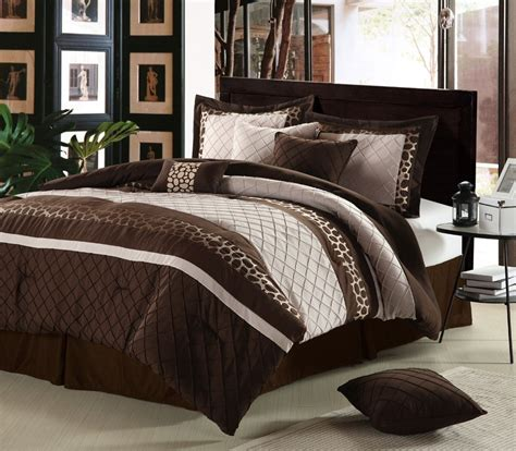 brown comforter set king lacozee leopard oversized comforter set in brown size