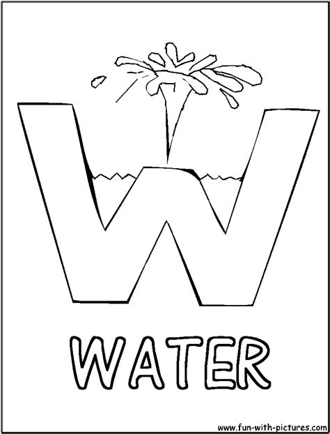 how to color water day of water coloring pages