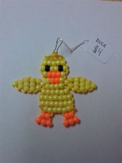 how to make a bead pet duck bead pet keychain