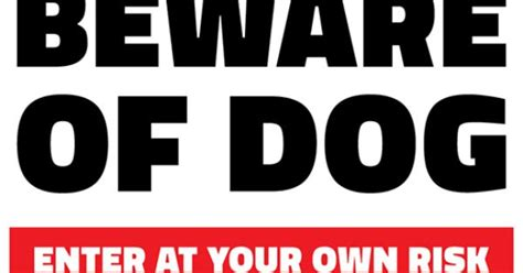 free beware of dog printable sign template free