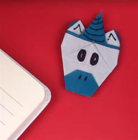 origami corner bookmark origami unicorn corner bookmark allfreepapercrafts